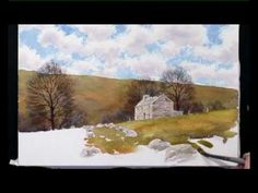 How To Paint Watercolours Two - Dales Landscape - Part Three - YouTube