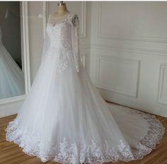 2016-nue-Langarm-Hochzeitskleid-Abendkleid-Brautkleid-GR-38-40-42-44-46-48-50-52