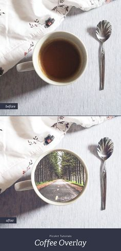 Follow our step by step tutorial to learn how to overlay a scene into your coffee cup.