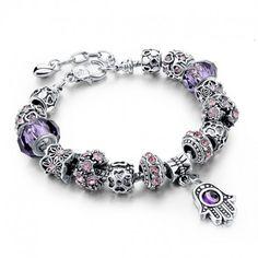 $5.99 Hamsa Charms Charm Bracelets For Women