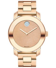 Movado Women's Swiss Bold Rose Gold Ion-Plated Stainless Steel Bracelet Watch 36mm 3600335 - Watches - Jewelry & Watches - Macy's