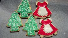 Use your imagination to decorate sugar cookies during the holidays.