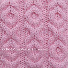 Cable Knitting Stitches » Hugs and Kisses stitch - pattern 1 TO BE CONVERTED INTO CROCHET