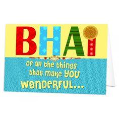 Personalised+Wonderful+Bhai+Rakhi+Card via @giftcart Rakhi Greetings, Rakhi Cards, Raksha Bandhan Gifts, Rakhi Gifts, Online Gifts, Greeting Cards, Make It Yourself, How To Make, Diy