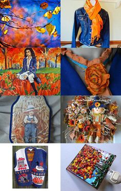 Seeking out the Blue in Autumn with TeamVintageusa by Sherry on Etsy--Pinned with TreasuryPin.com