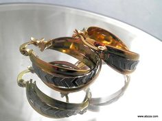 Elegant Two-Tone 9Kgf Hoop Earrings. Starting at $1 on Tophatter.com!