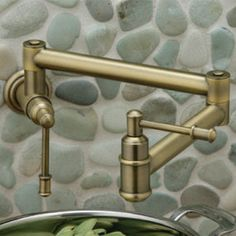 Elkay Pot Filler – new wall mount pot filler Oldare Modern Kitchen Backsplash, Stone Backsplash, Pot Filler, New Wall, Wall Mount, Building A House, Kitchens, Plumbing, Pantry