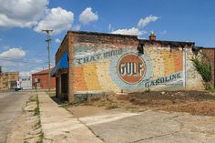 Great old Gulf Gasoline ghost sign