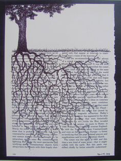 Print of an original drawing of a tree with by HeartStoneGallery, $15.00