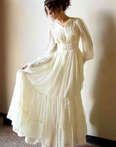 Simple Cotton Wedding Dresses