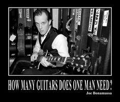 How Many Guitars Does One Man Need - Poster: Joe Bonamassa Official Store