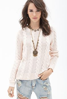 Classic Cable Knit Sweater | FOREVER21 - 2000083976