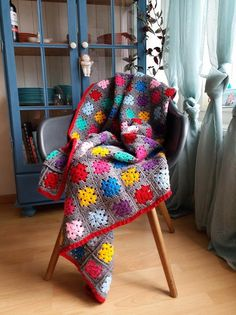 Granny square blanket Gloria