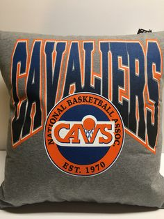 Cleveland Ohio Basketball T-Shirt Pillow 16x16 Upcycled One of a Kind by Teecycleshop on Etsy https://www.etsy.com/listing/535159857/cleveland-ohio-basketball-t-shirt-pillow