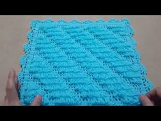 Baby Knitting Patterns, Crochet Stitches, Make It Yourself, Blanket, Asdf, Youtube, Crocheted Afghans, Crochet Carpet, Tricot