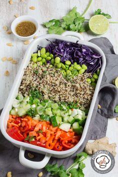 Thai Quinoa Salat #Fischsauce, #Limetten, #Nussig, #Quinoa, #Rotkohl, #Salat, #Sommer, #Thai #foodblog #foodie #food #rezept #foodblog_de #foodpics #rezepte http://gernekochen.com/thai-quinoa-salat/