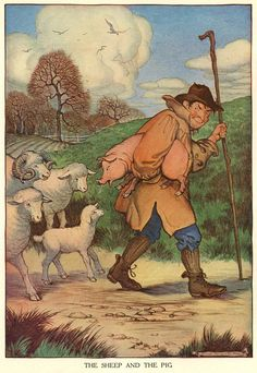 Milo Winter Aesop's Fables - The Sheep and the Pig