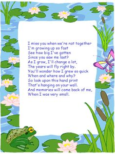 mothers day poem- this made me cry! Would be cute with a hand print on a canvas. Poem On Plants, Mothers Day Crafts, Mother Day Gifts, Preschool Crafts, Crafts For Kids, Summer Crafts, Preschool Ideas, May Activity, Fathers Day Poems