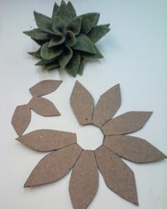 Ideas and Inspirations: Felt Succulents in Painted Pots