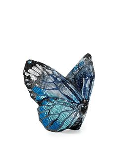 wantering-leather:  Mila New Butterfly Minaudiere, Silver/Aquamarine Shop for more like this on Wantering!