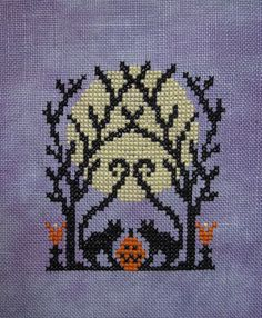 Needlework, quilting, costumes and whatever else I stitch together Biscornu Cross Stitch, Fall Cross Stitch, Cross Stitch Embroidery, Cross Stitch Patterns, Halloween Cross Stitches, Needlepoint Designs, Holidays Halloween, Cross Stitching, Beading Patterns