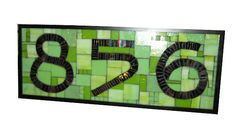 Custom Stained Glass Mosaic House Numbers by SequentialGlass