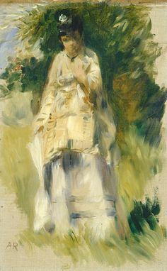 Woman Standing by a Tree -