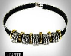 LILY ROSE collar de cremallera hecha a mano por TruffeJewellery