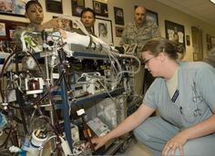 The Military's Portable ECMO Machine. When Savanah was put on ECMO, the team from Lackland AFB was the ONLY PORTABLE team in the world at that time. her portable machine was almost identicle to this one