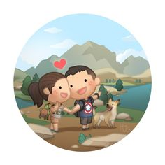 See the World with You((( I would love to . Love Cartoon Couple, Chibi Couple, Cute Love Cartoons, Cute Cartoon, Cute Love Stories, Love Story, Hj Story, Couples Comics, Cute Couple Drawings