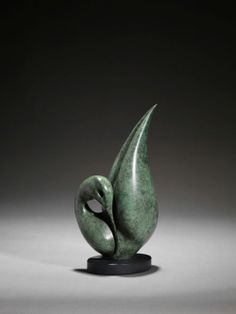 Bronze Indoor Abstract #sculpture by #sculptor Simon Gudgeon titled: 'Reflection - The Collection' #art