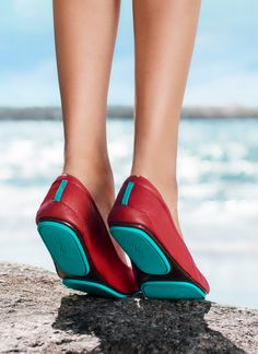 Make a statement in Cardinal Red Tieks! | Tieks Ballet Flats