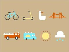 Flat Icons / Flat Design / Icons Design / Icons / Pictograms / Signs #flat
