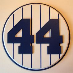 Retired Number 44 Plaque Yankees Reggie Jackson - large
