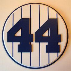 Retired Number 44 Plaque Yankees Reggie Jackson - large