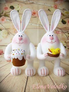 Купить Пасхальные зайки - голубоглазые блондины) - белый, Пасха, пасхальный сувенир, пасхальный подарок