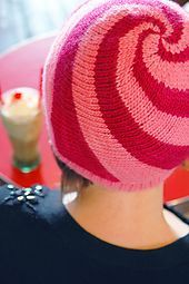 Lollipop hat pattern, free on ravelry