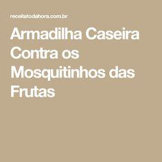 Armadilha Caseira Contra os Mosquitinhos das Frutas