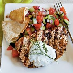 Greek style pork chops. I love Greek food. Authentic style.