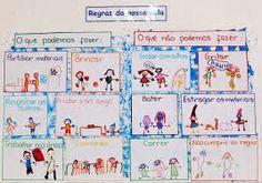 Resultado de imagem para instrumentos de organização da sala no jardim infancia Reggio Emilia, Anchor Charts, Legos, Kids Playing, Diy And Crafts, Kindergarten, Teacher, Bullet Journal, Classroom