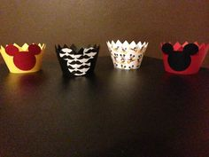 Hey, I found this really awesome Etsy listing at https://www.etsy.com/listing/159030281/12-mickey-mouse-cupcake-wrappers-holders