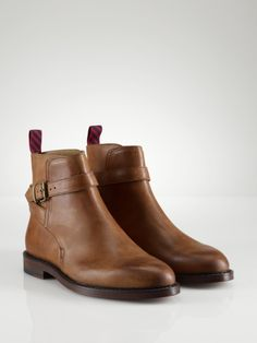 Newent Burnished Leather Boot - Polo Ralph Lauren Boots - RalphLauren.com