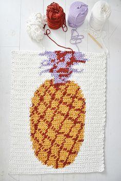 alfombra de piña