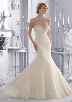 Find More Wedding Dresses Information about 2017 Luxury White High Neck Mermaid Wedding Dresses See Through Back Sexy Lace Bridal Gowns Robe de Mariage QA1202,High Quality dress clutch,China dress doctor Suppliers, Cheap dresses mail from Bealegantom Wedding Flagships Store on Aliexpress.com