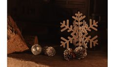 3D Stainless Steel Christmas Snowflake Decoration Set of 3 - Christmas