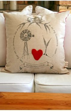Windpomp Cushion 60x60cm from The Pickled Fish in South Africa