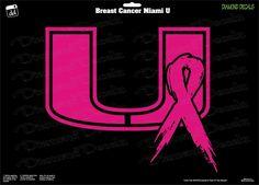 Breast Cancer Miami-U-Design-Decal-Vinyl-Sticker-Car-Window-New