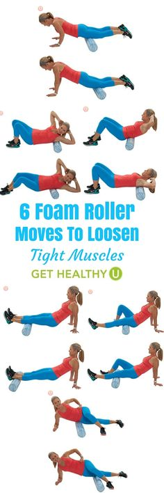 Foam rolling has become the way to perform self-myofascial release -a fancy term for self-massage to release muscle tightness or trigger points. These 6 foam roller moves can help aid in the recovery of muscles.