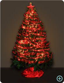 Árbol de navidad rojo Christmas Tree, Holiday Decor, Google, Home Decor, Ideas, Colors, Red Christmas, Christmas Ornaments, Red