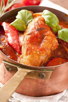 Chicken Cacciatore ~  One of my favorite dishes!